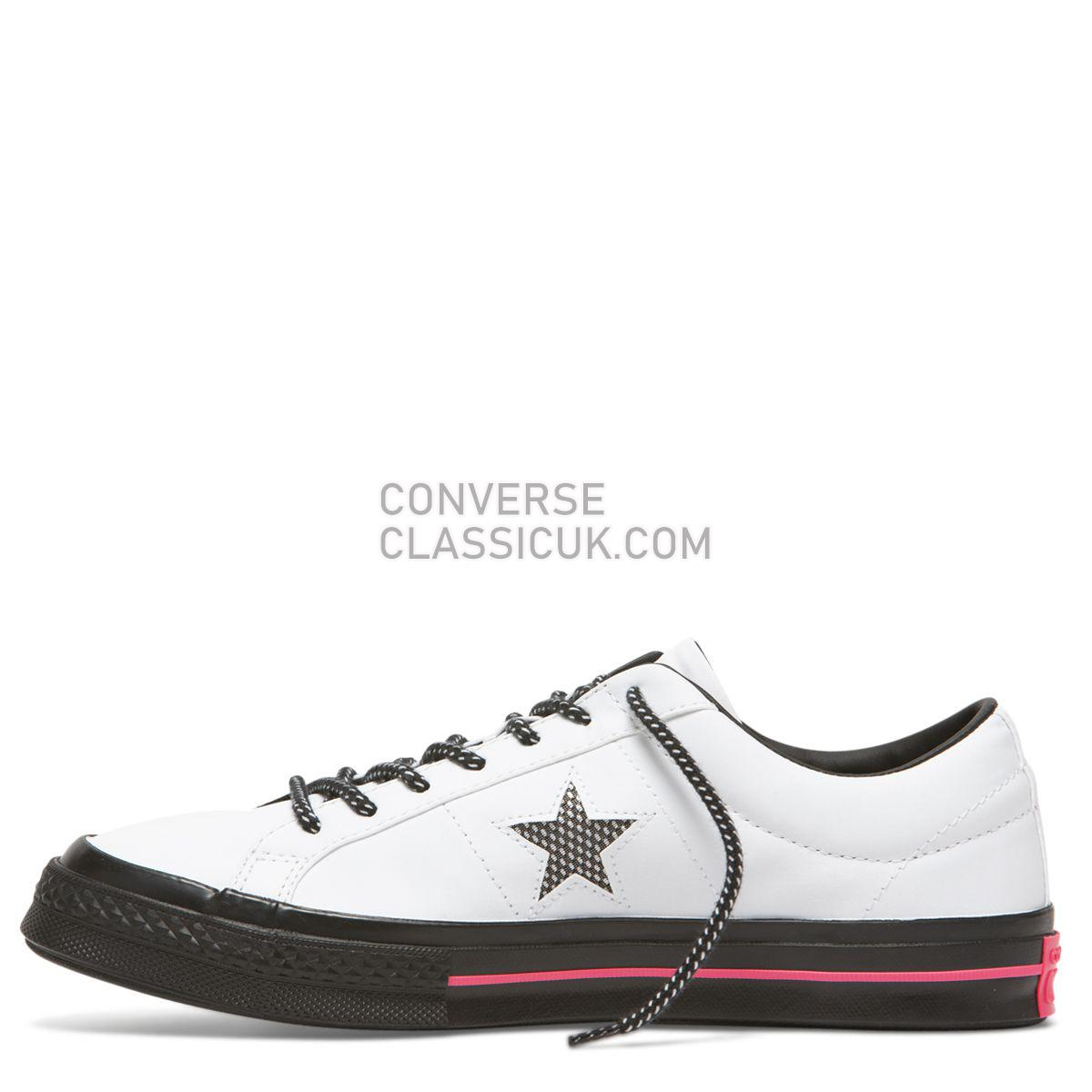 Converse One Star Get Tubed Low Top White Mens Womens Unisex 164223 White/Black/Racer Pink Shoes