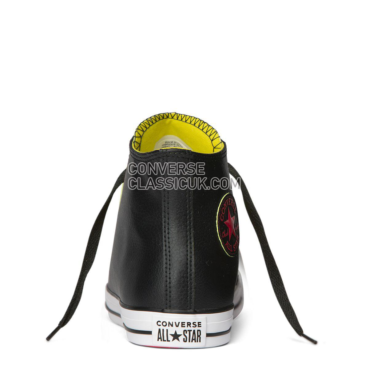 Converse Chuck Taylor All Star SL High Top Black Mens Womens Unisex 165664 Black/Acid Green/White Shoes