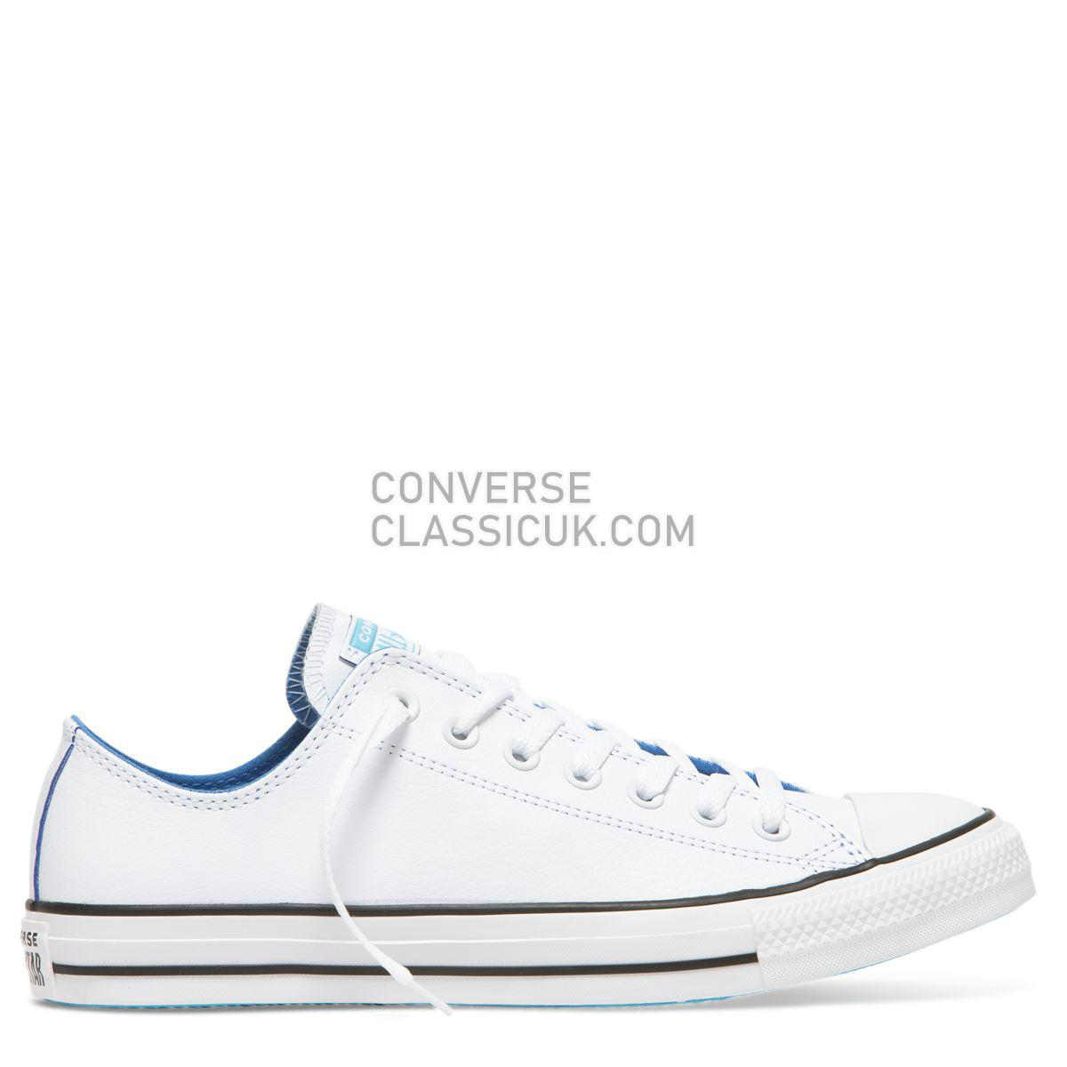 Converse Chuck Taylor All Star SL Low Top White Mens Womens Unisex 165667 White/Totally Blue/White Shoes