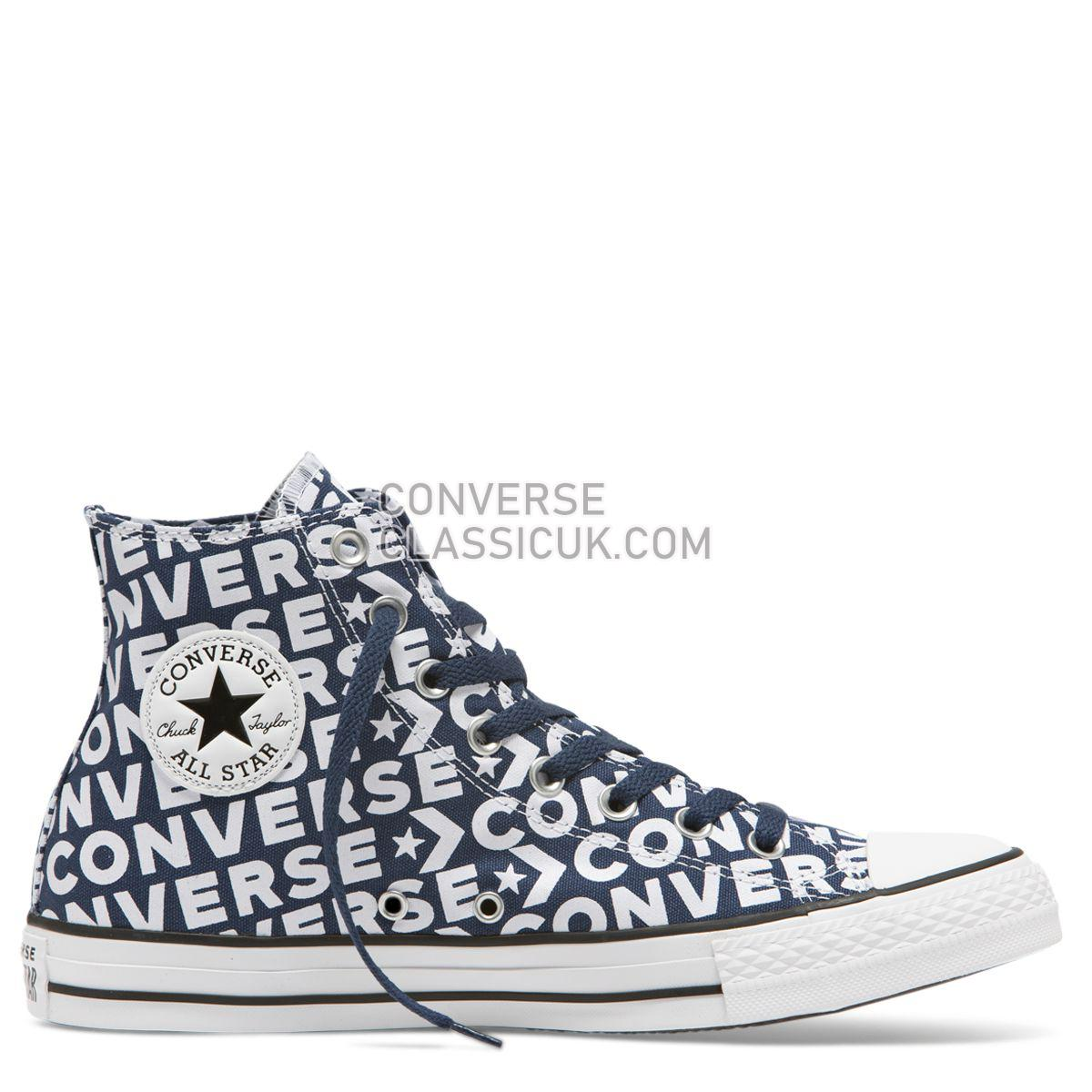 Converse Chuck Taylor All Star Wordmark High Top Navy Mens Womens Unisex 163952 Navy/White/White Shoes