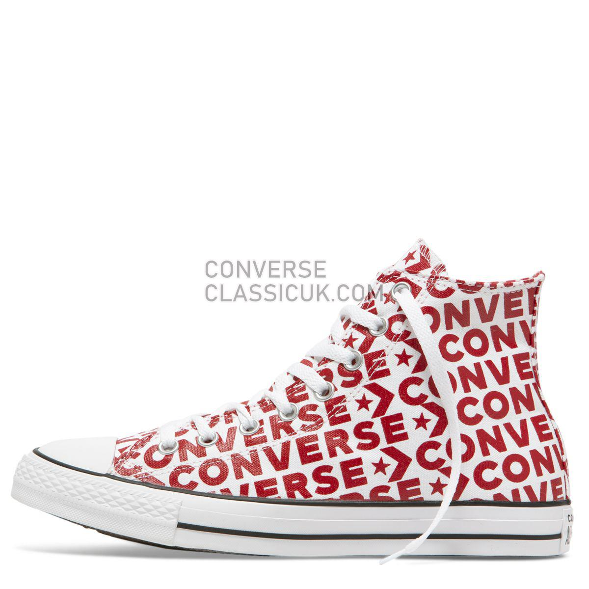 Converse Chuck Taylor All Star Wordmark High Top White Mens Womens Unisex 163953 White/Enamel Red/White Shoes