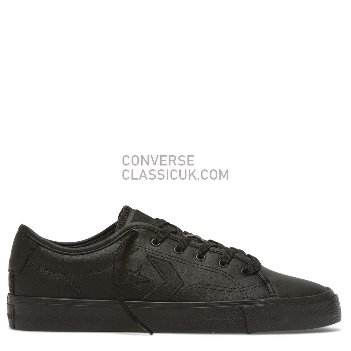 Converse Star Replay Low Top Black Mens 164543 Black/Black/Black Shoes