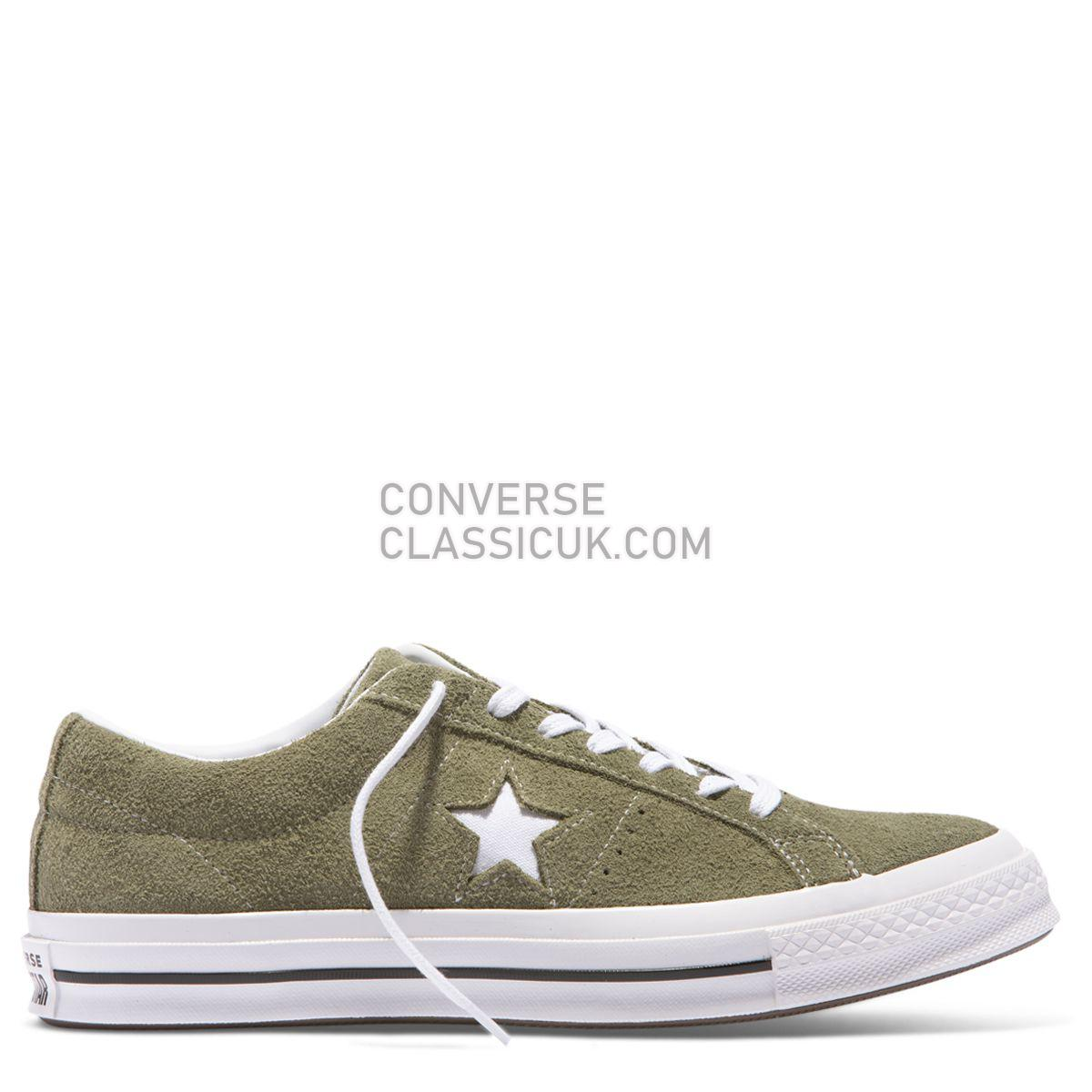 Converse One Star Vintage Suede Low Top Field Surplus Mens Womens Unisex 161576 Field Surplus/White/White Shoes