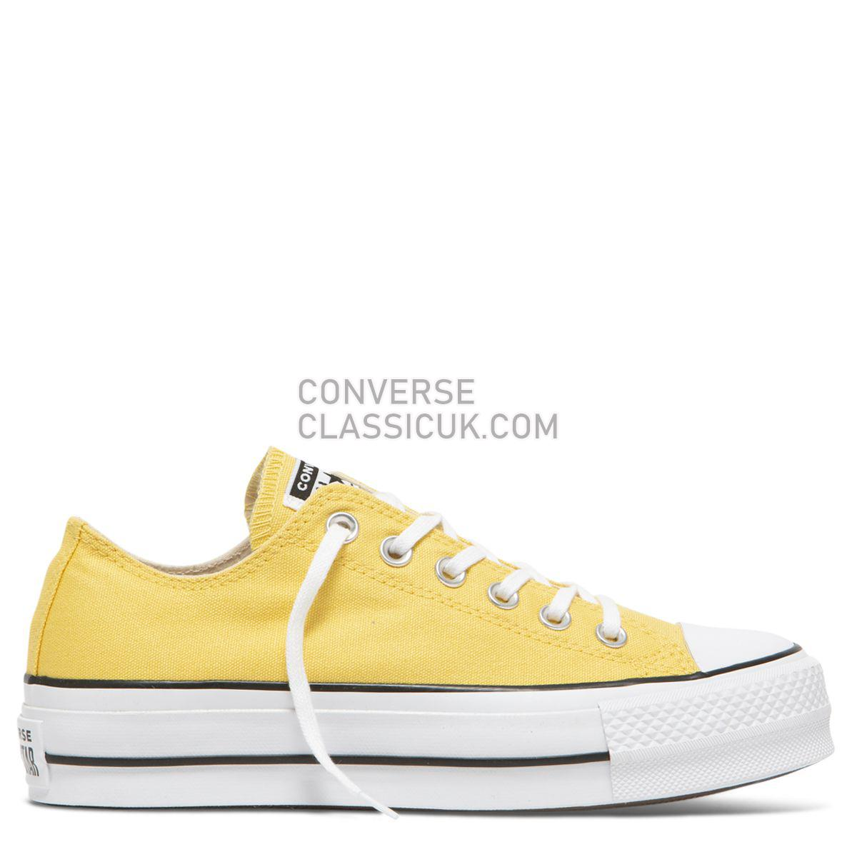 Converse Chuck Taylor All Star Seasonal Lift Low Top Butter Yellow Womens 564385 Butter Yellow/Black/White Shoes