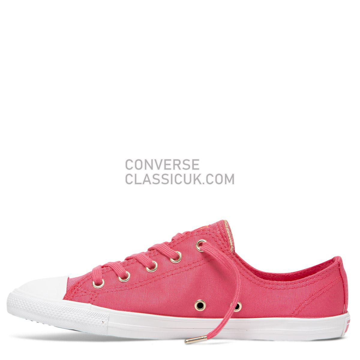 Converse Chuck Taylor All Star Dainty Summer Palms Low Top Strawberry Jam Womens 564306 Strawberry Jam/Turf Orange/Light Gold Shoes