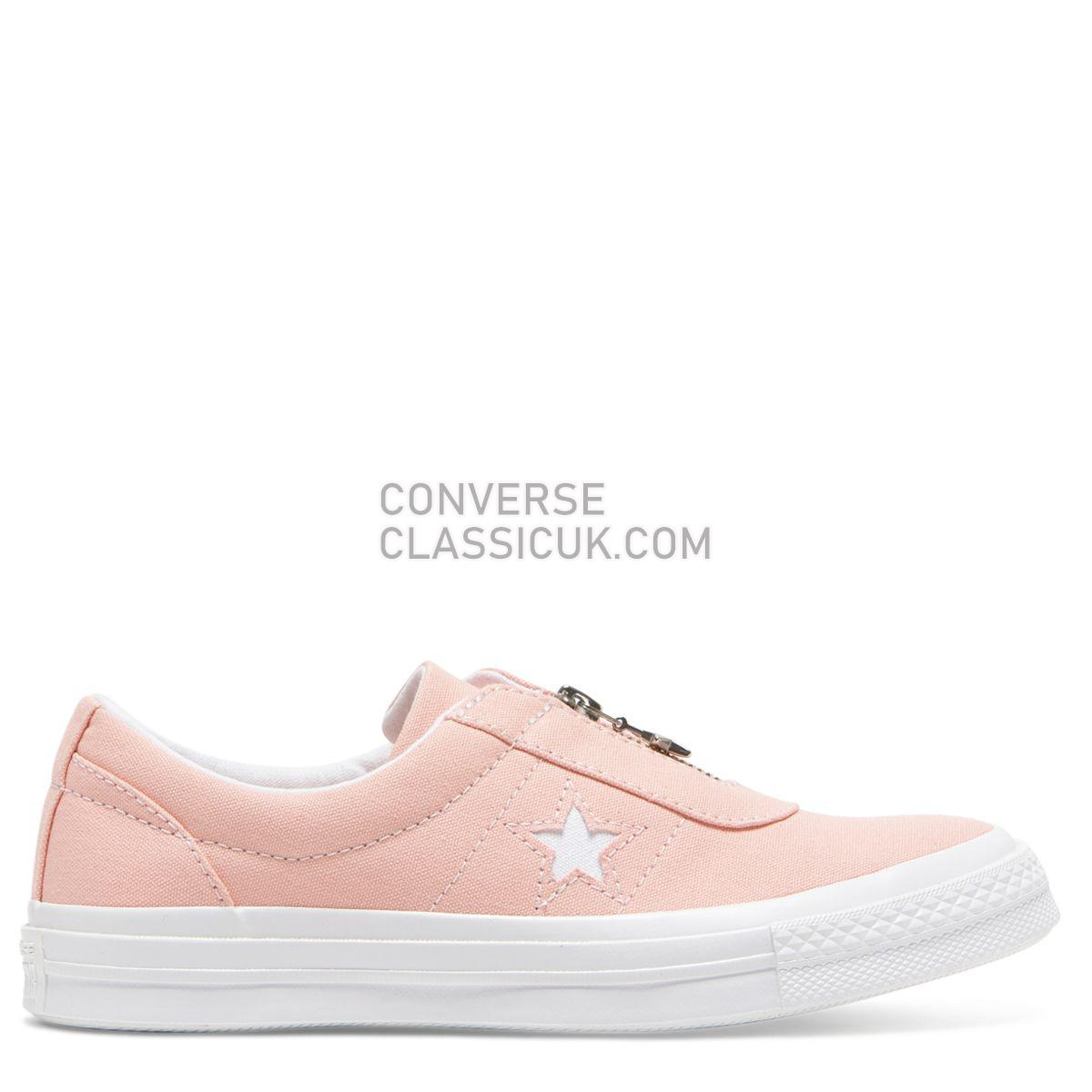 Converse One Star Sunbaked Slip Low Top Bleached Coral Womens 564204 Bleached Coral/White/White Shoes