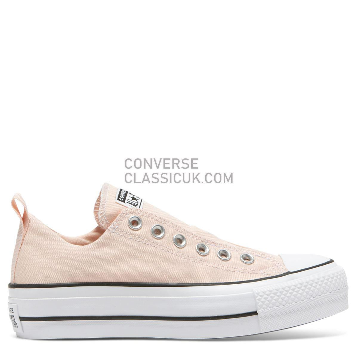 Converse Chuck Taylor All Star Lift Cali Mood Slip Low Top Washed Coral Womens 564341 Washed Coral/White/Black Shoes