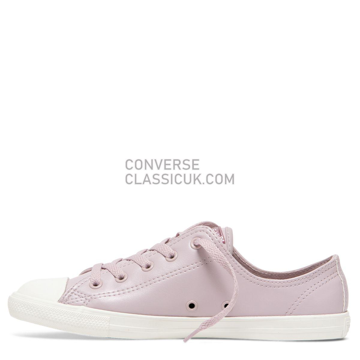 Converse Chuck Taylor All Star Dainty Craft Low Top Plum Chalk Womens 564426 Plum Chalk/Plum Chalk/Vintage White Shoes