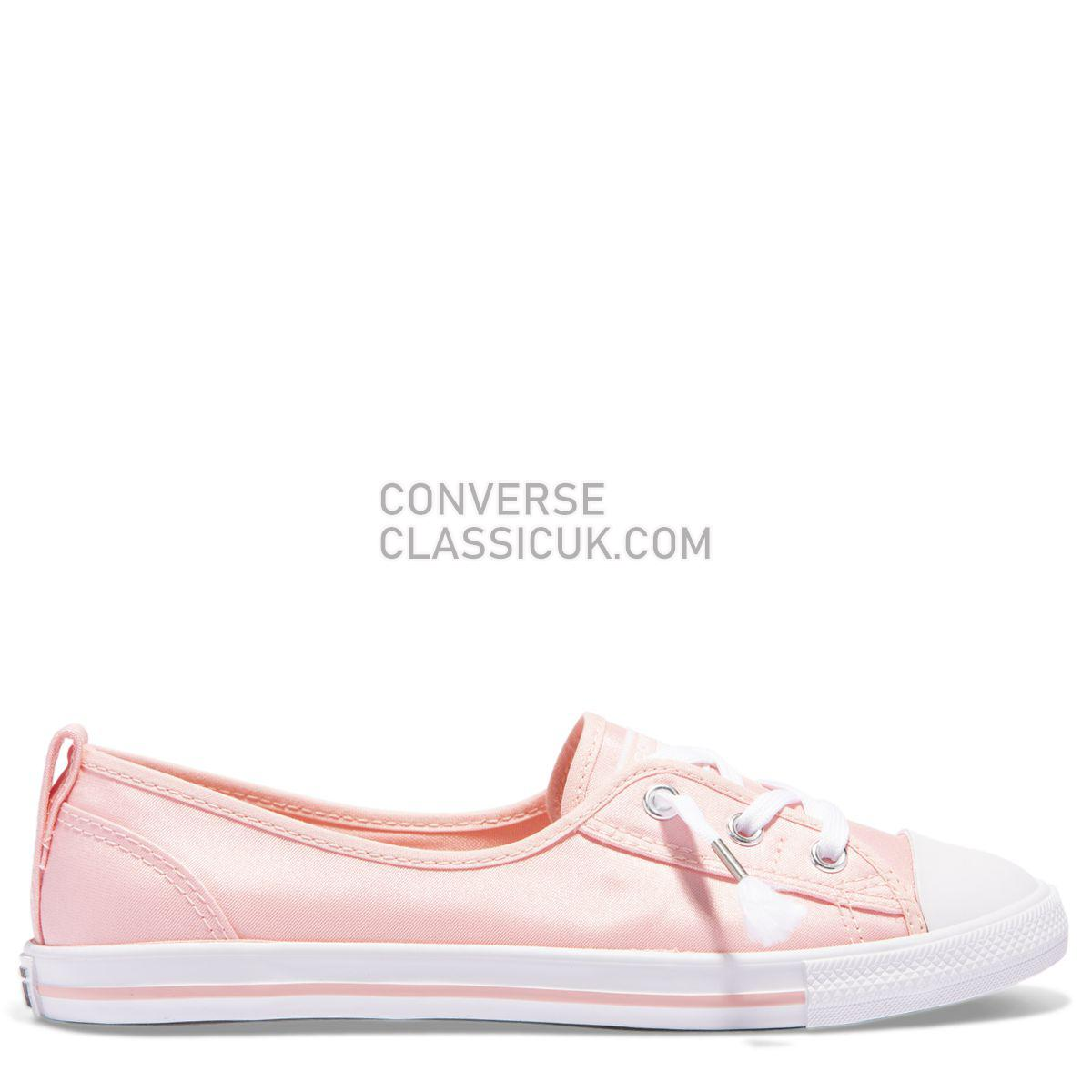 Converse Chuck Taylor All Star Ballet Lace Shimmer Pink Storm Womens 562167 Storm Pink/Storm Pink/White Shoes