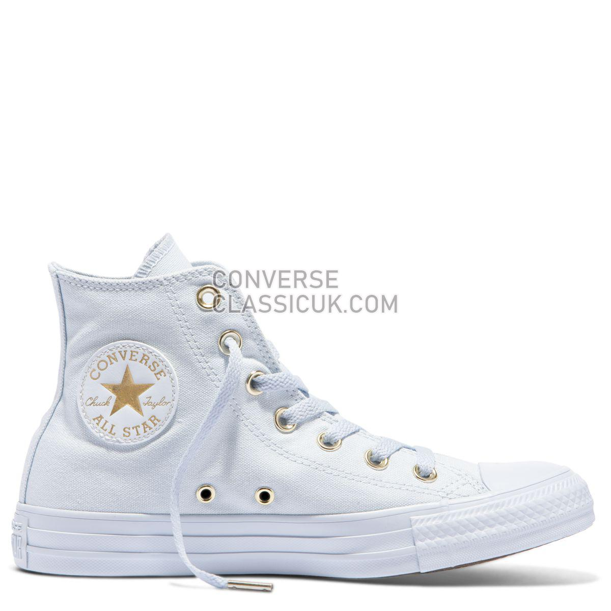 Converse Chuck Taylor All Star Canvas Colour High Top Blue Tint Womens 559939 Blue Tint/Blue Tint/Gold Shoes