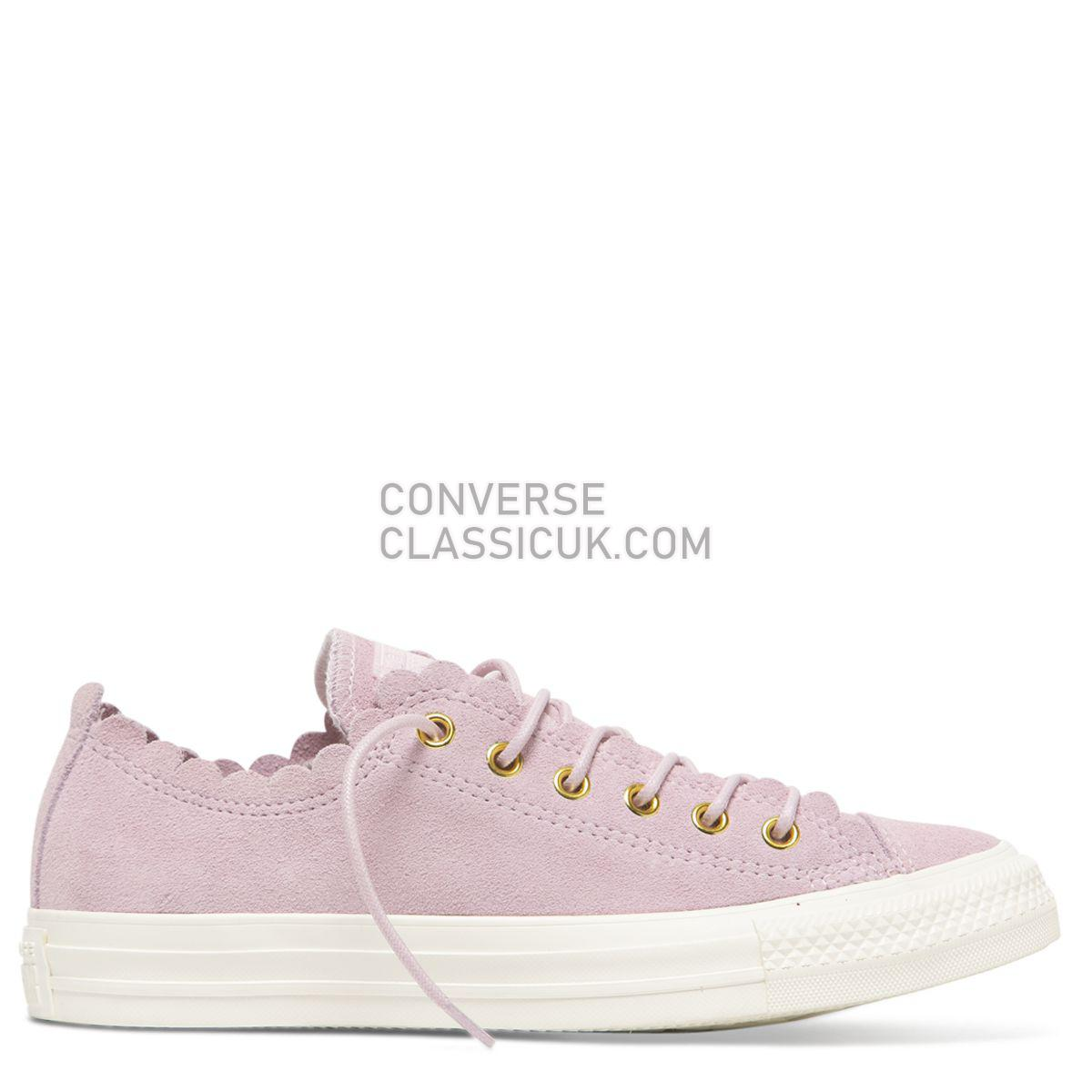 Converse Chuck Taylor All Star Frilly Thrills Low Top Pink Foam Womens 563416 Pink Foam/Gold/Egret Shoes
