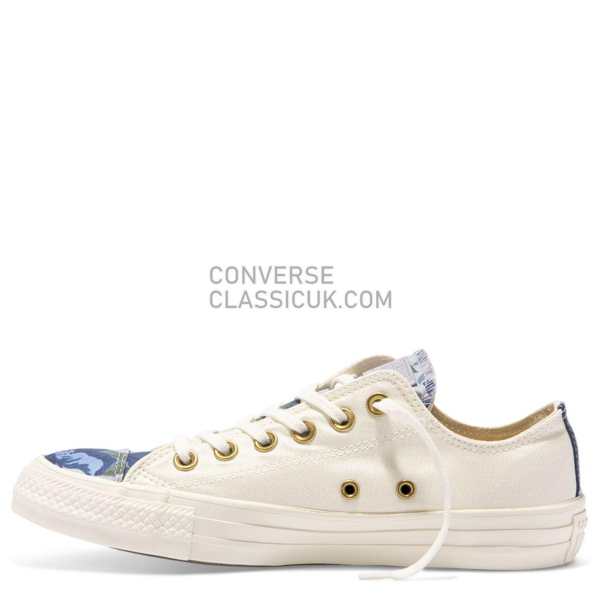 Converse Chuck Taylor All Star Parkway Floral Low Top Egret Womens 561665 Egret/Provence Purple/Egret Shoes