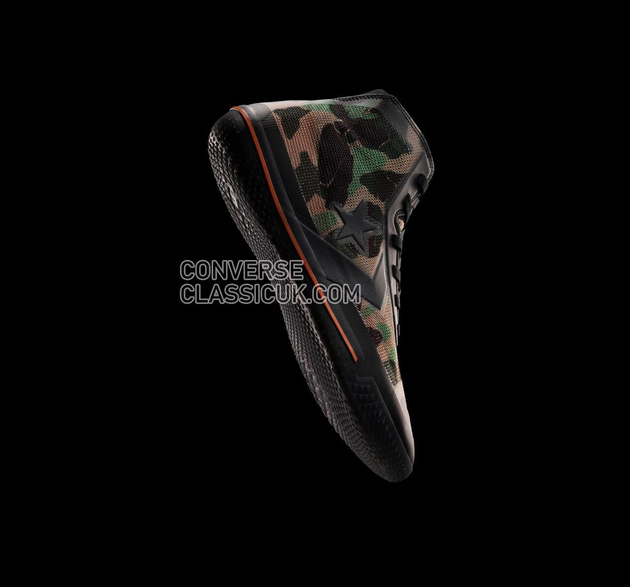 Converse All Star Pro BB Archive Print Mens 166450C Black/Bold Mandarin/Black Shoes