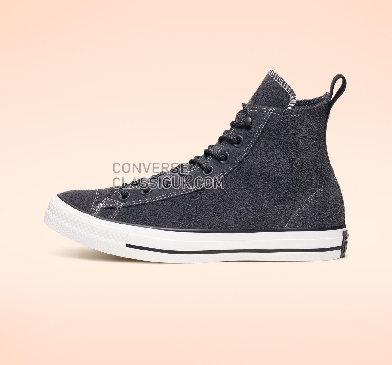Converse Chuck Taylor All Star Suede High Top Mens Womens Unisex 165845C Almost Black/Almost Black Shoes