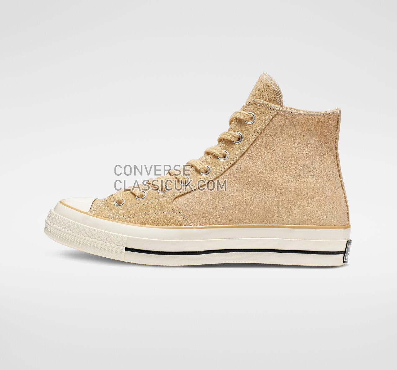 Converse Chuck 70 Leather High Top Mens Womens Unisex 164930C Pale Wheat/Egret/Black Shoes