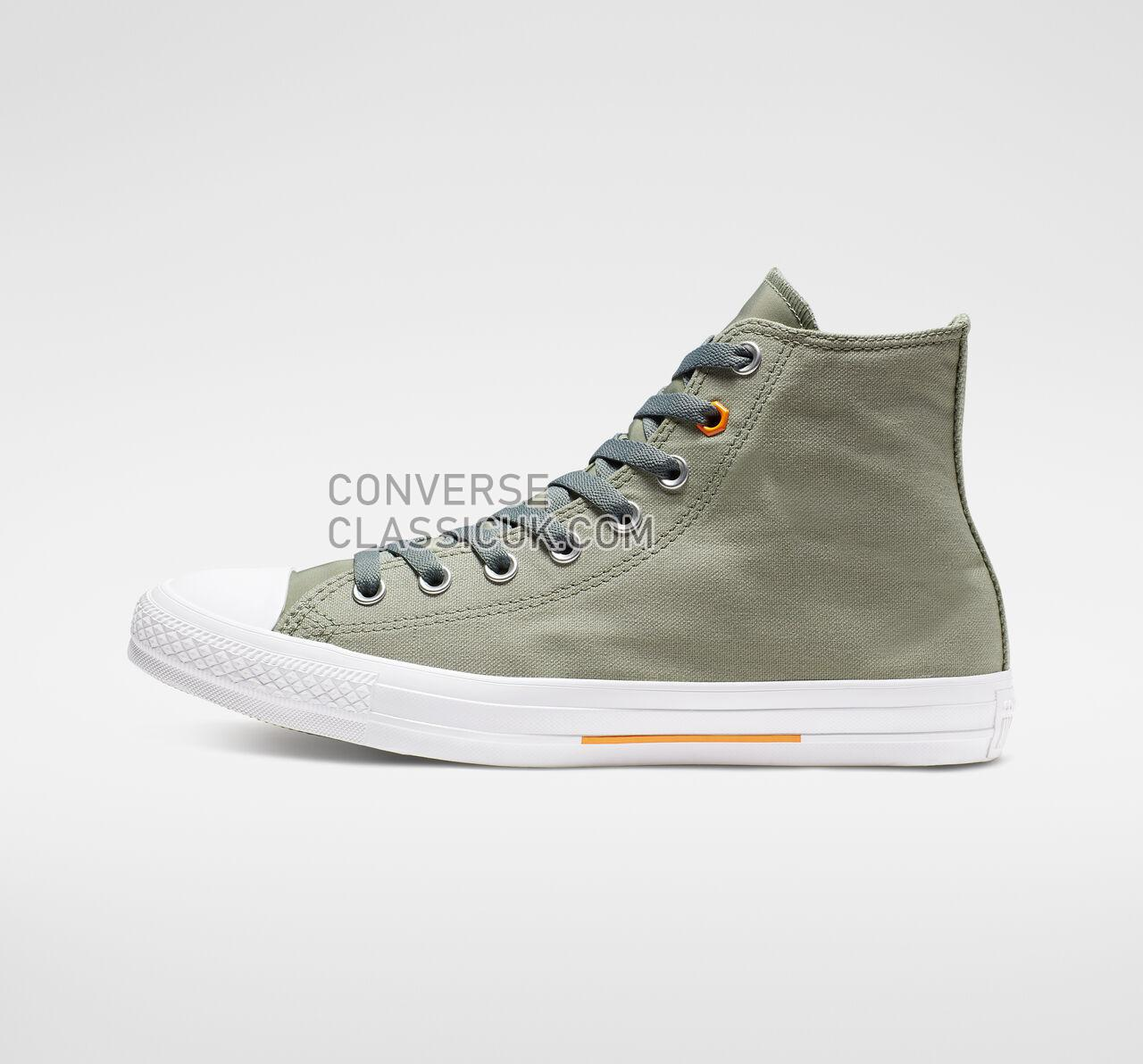 Converse Chuck Taylor All Star Flight School High Top Mens Womens Unisex 165052F Jade Stone/Orange Rind/White Shoes