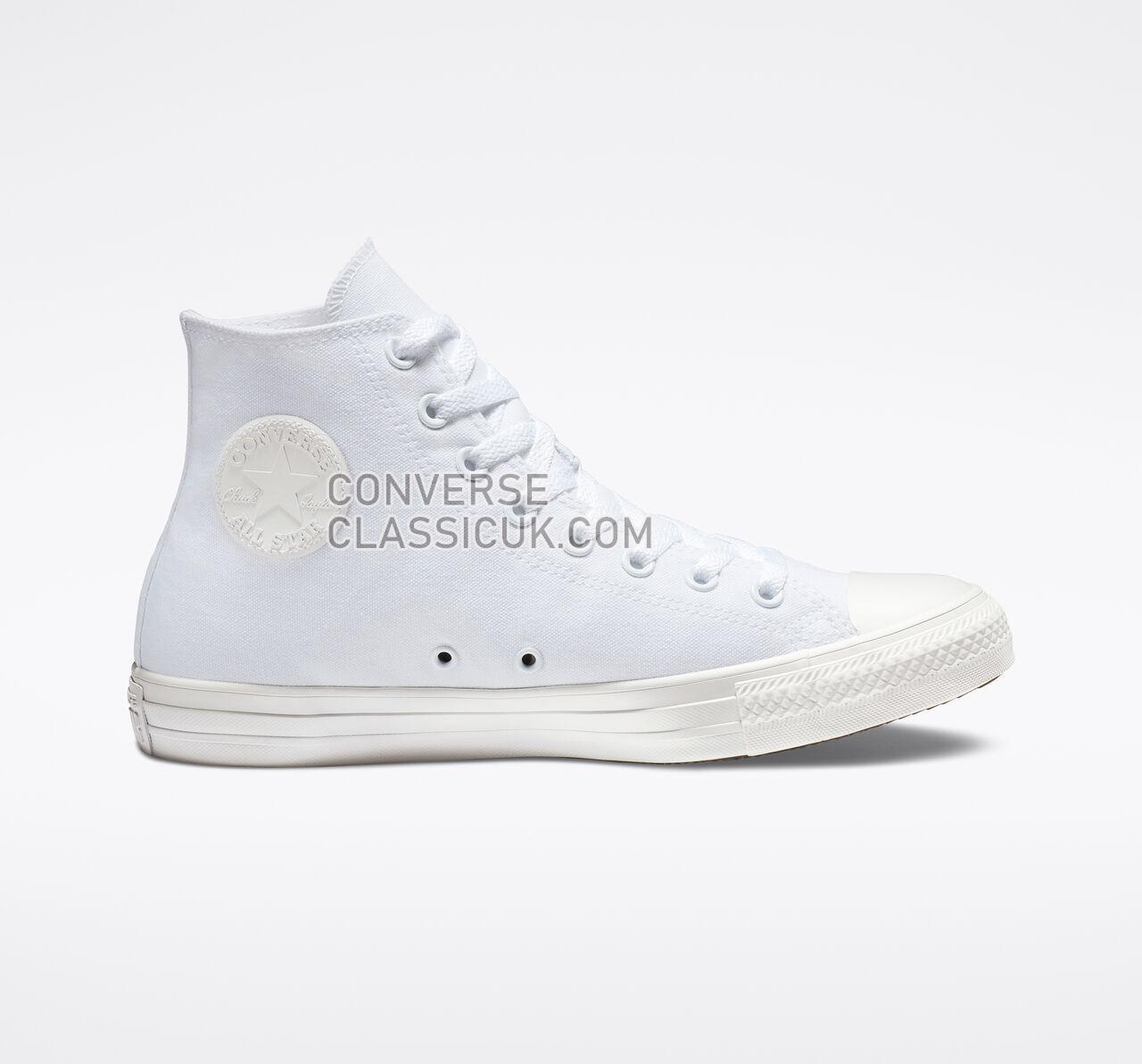 Converse Chuck Taylor All Star High Top Mens Womens Unisex 1U646F White Monochrome Shoes