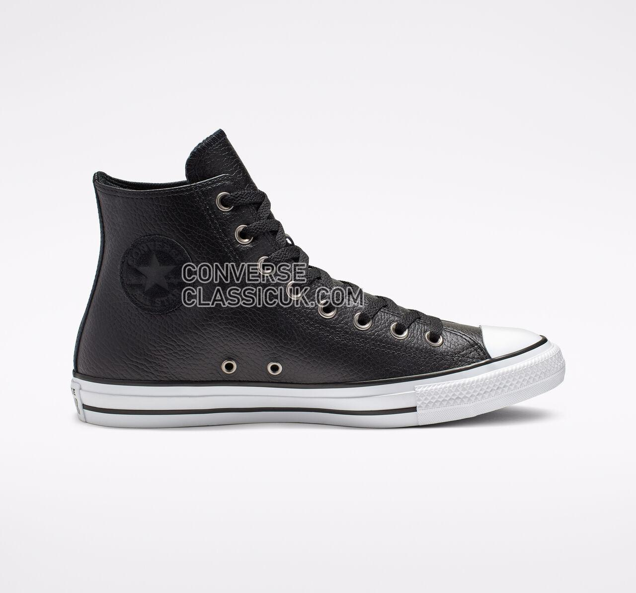 Converse Chuck Taylor All Star Leather High Top Mens Womens Unisex 165191C Black/White/Black Shoes