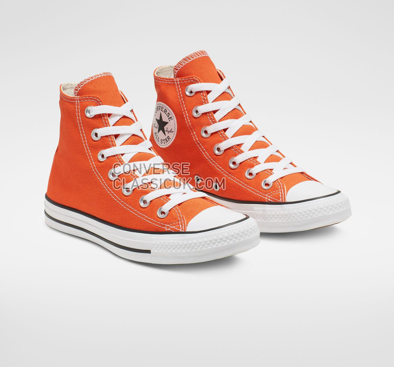 Converse Chuck Taylor All Star Seasonal Color High Top Mens Womens Unisex 164700F Golden Poppy/White/Black Shoes