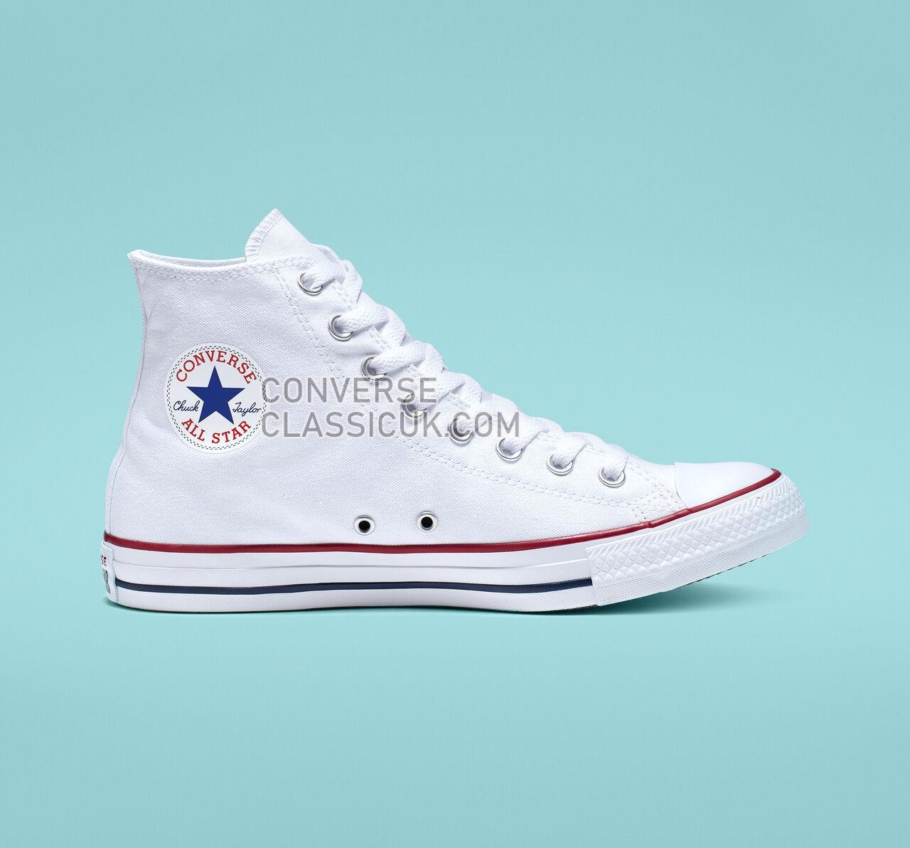 Converse Chuck Taylor All Star High Top Mens Womens Unisex M7650 Optical White Shoes
