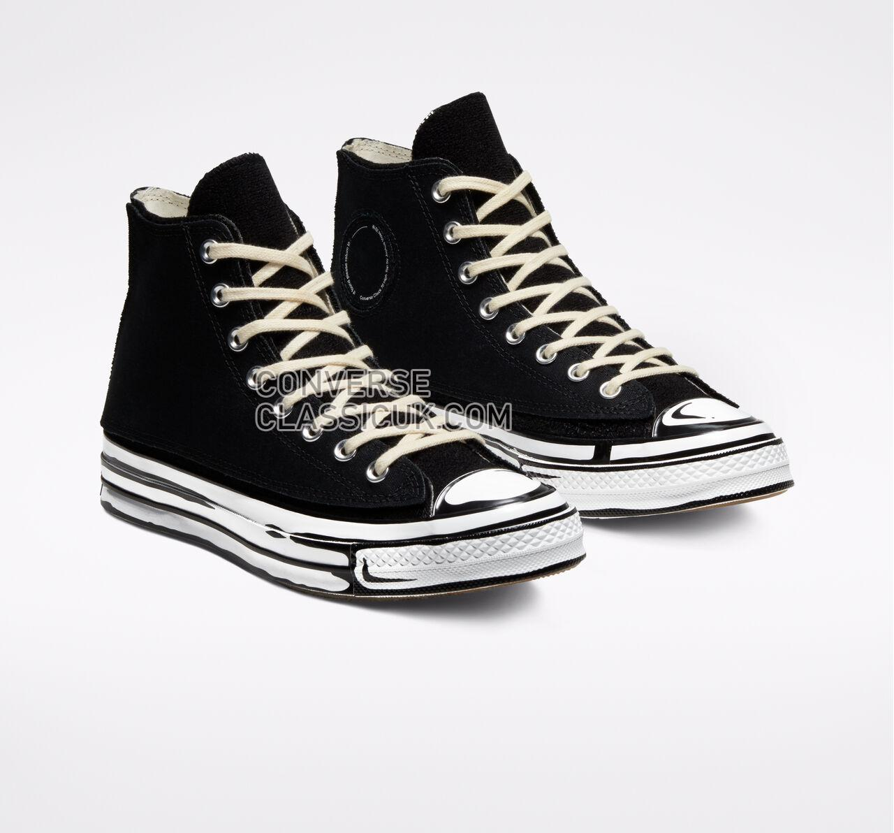 Converse x Joshua Vides Chuck 70 Mens Womens Unisex 166558C Black/White/Black Shoes