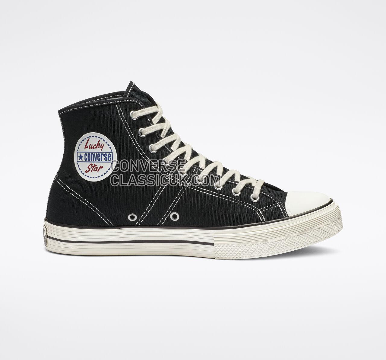 Converse Lucky Star High Top Mens Womens Unisex 163321C Black/Egret/Egret Shoes