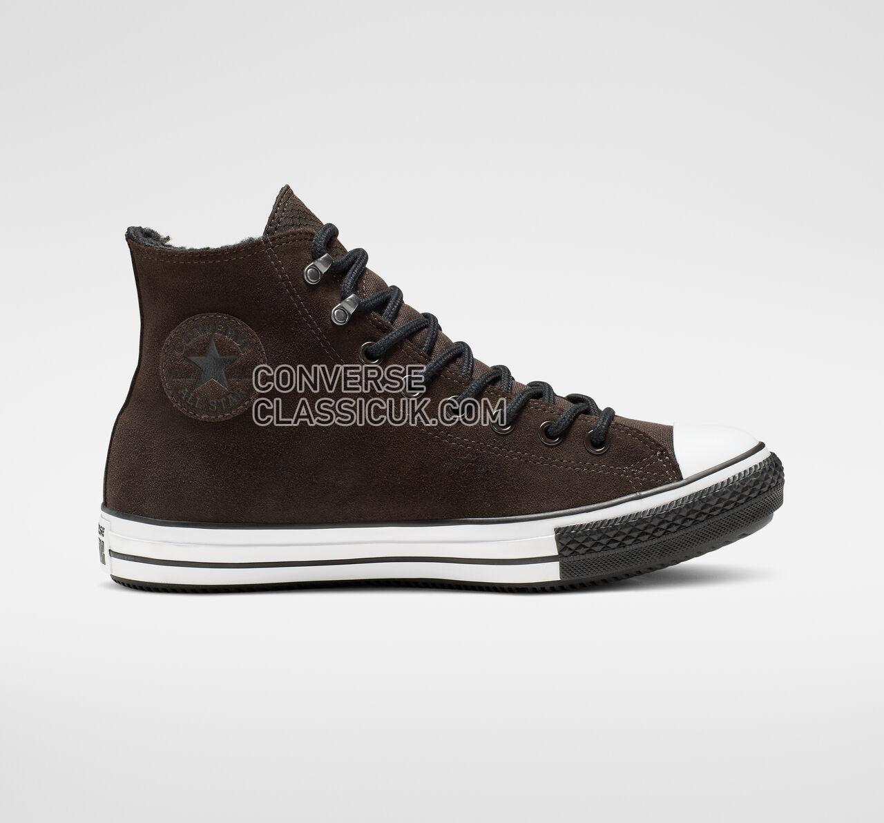 Converse Chuck Taylor All Star Winter Waterproof High Top Mens Womens Unisex 165452C Velvet Brown/White/Black Shoes