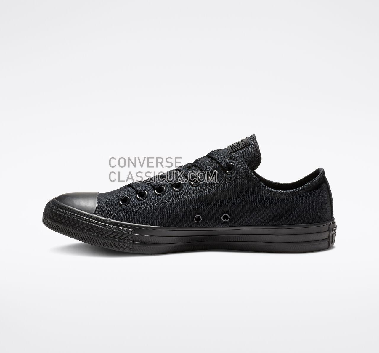 Converse Chuck Taylor All Star Low Top Mens Womens Unisex M5039 Black Monochrome Shoes