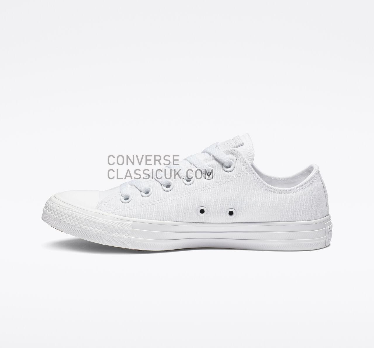 Converse Chuck Taylor All Star Low Top Mens Womens Unisex 1U647F White Monochrome Shoes