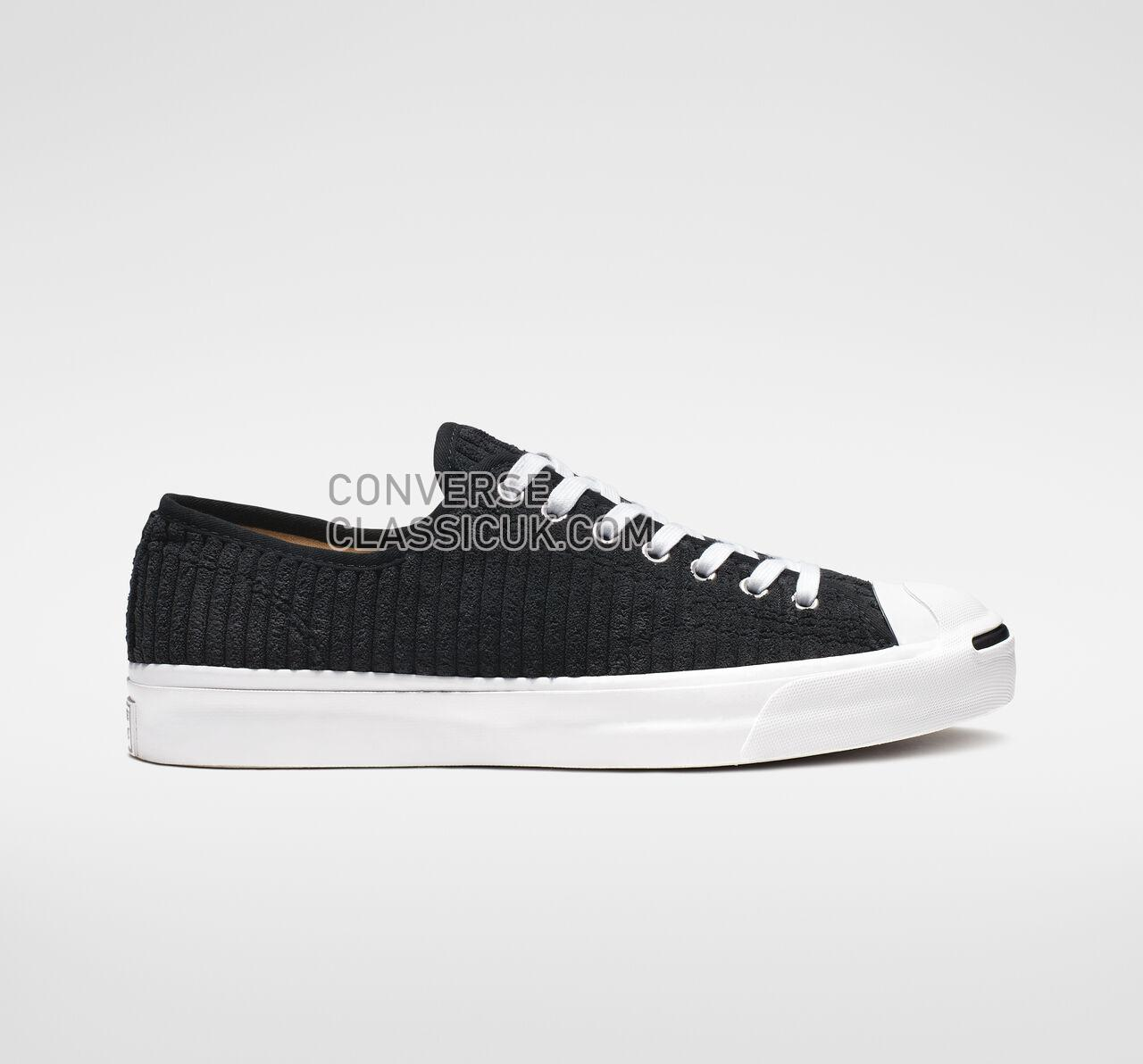 Converse Jack Purcell Wide Wale Cord Low Top Mens Womens Unisex 165139C Black/White/Black Shoes