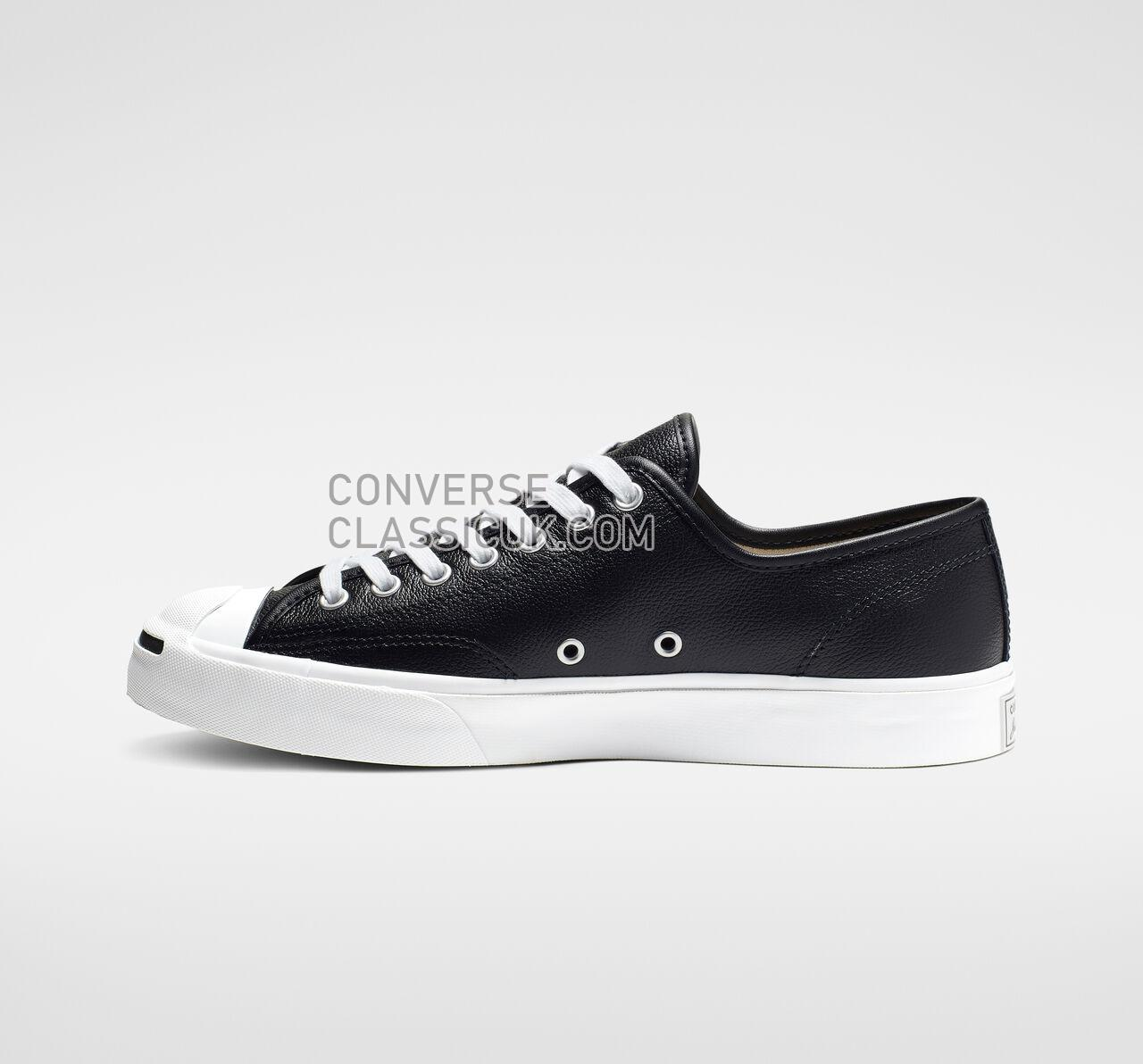 Converse Jack Purcell Leather Low Top Mens Womens Unisex 164224C Black/White/White Shoes