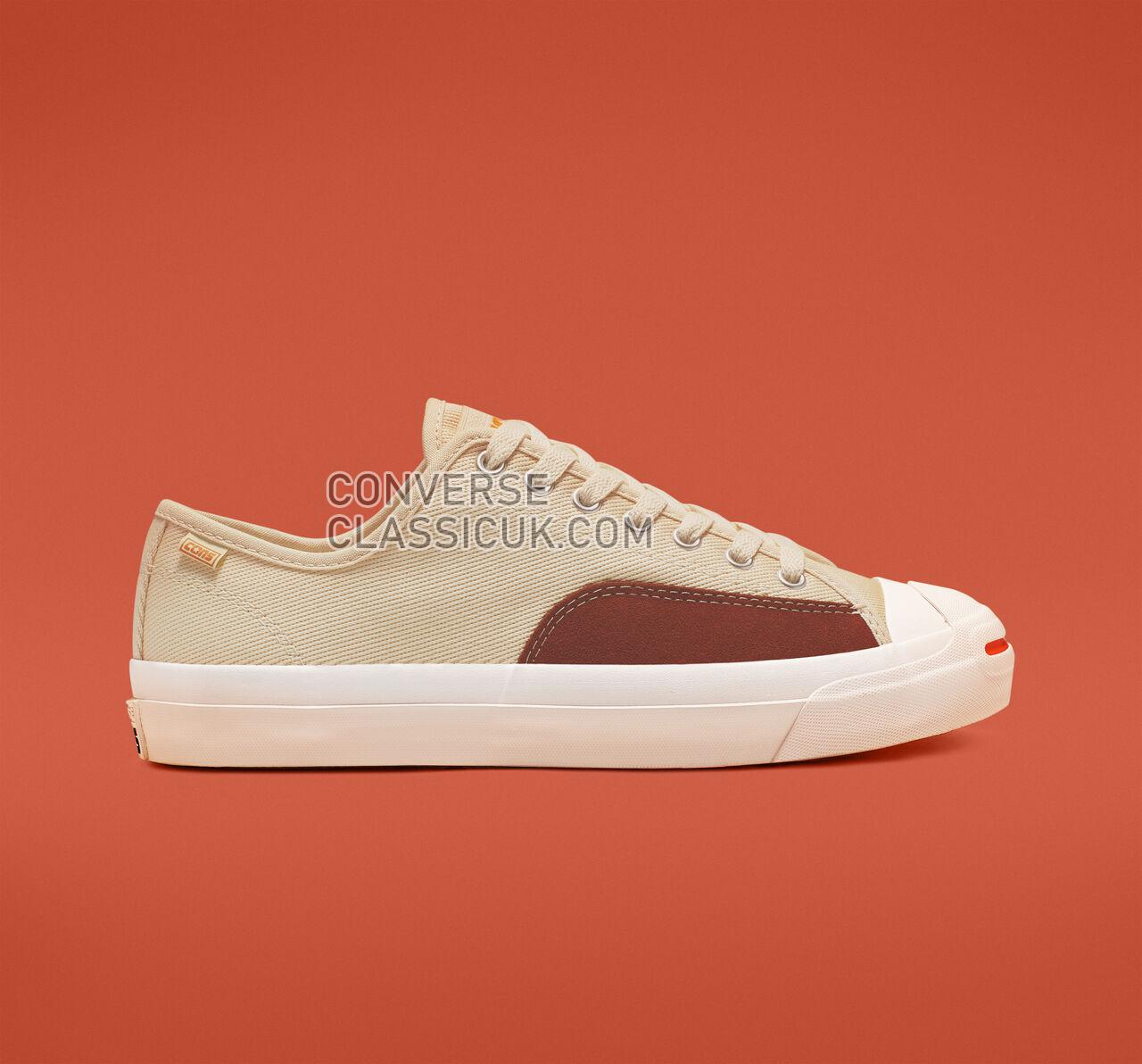Converse Jack Purcell Pro Low Top Mens Womens Unisex 165293C Natural Ivory/Cinnamon/White Shoes