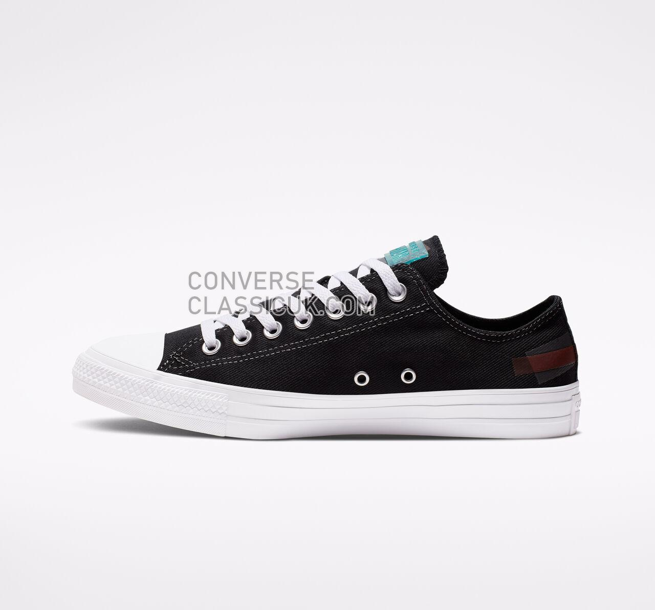 Converse Chuck Taylor All Star Space Racer Low Top Mens Womens Unisex 165331F Black/Enamel Red/White Shoes