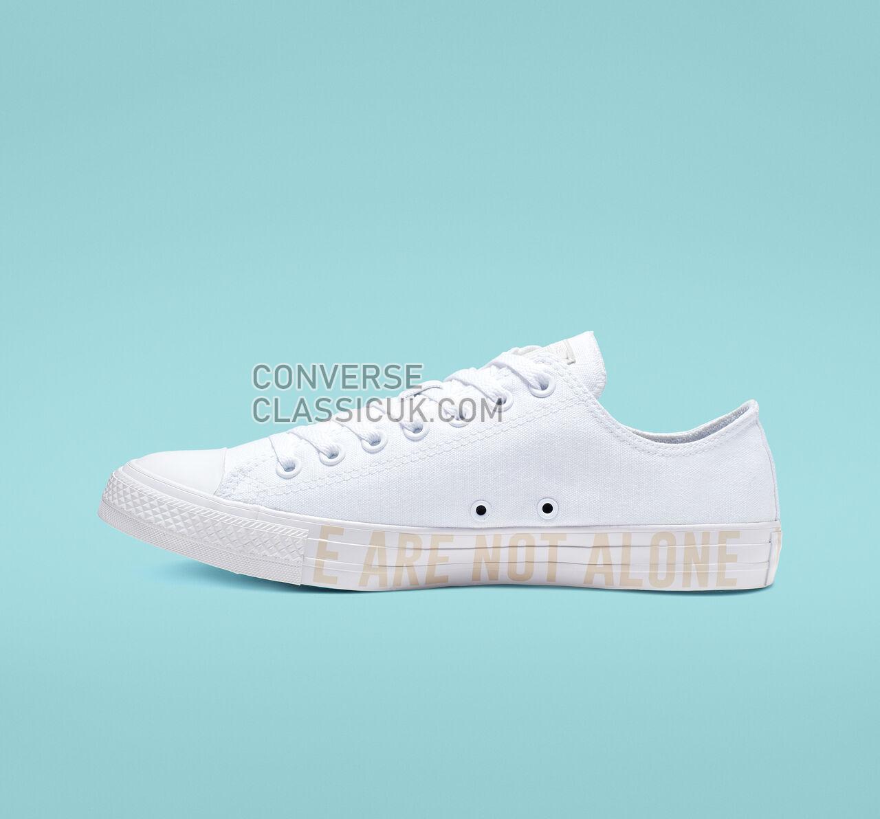 Converse Chuck Taylor All Star We Are Not Alone Low Top Mens Womens Unisex 165384F White/Pale Putty/White Shoes