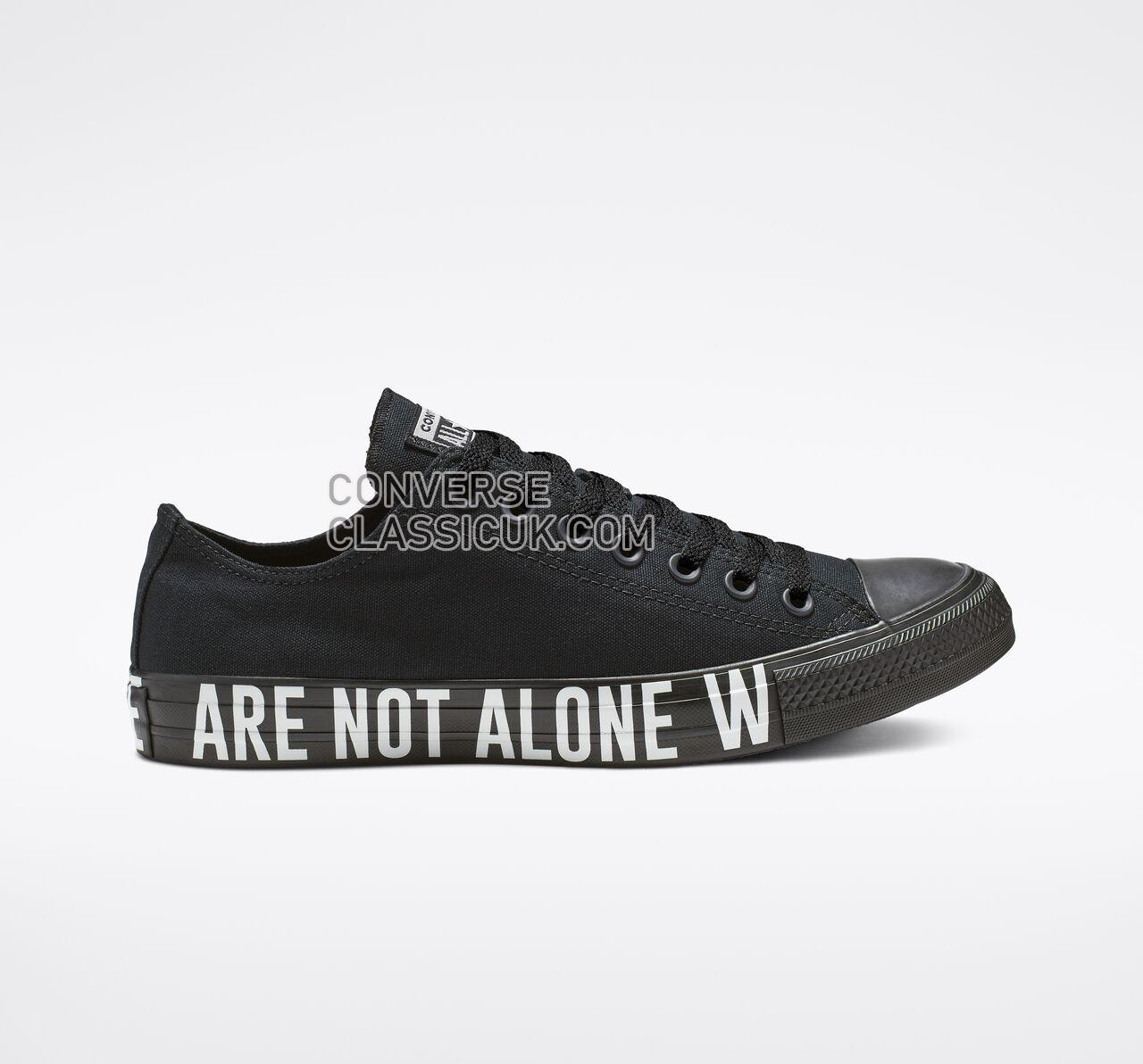 Converse Chuck Taylor All Star We Are Not Alone Low Top Mens Womens Unisex 165382F Black/White/Black Shoes