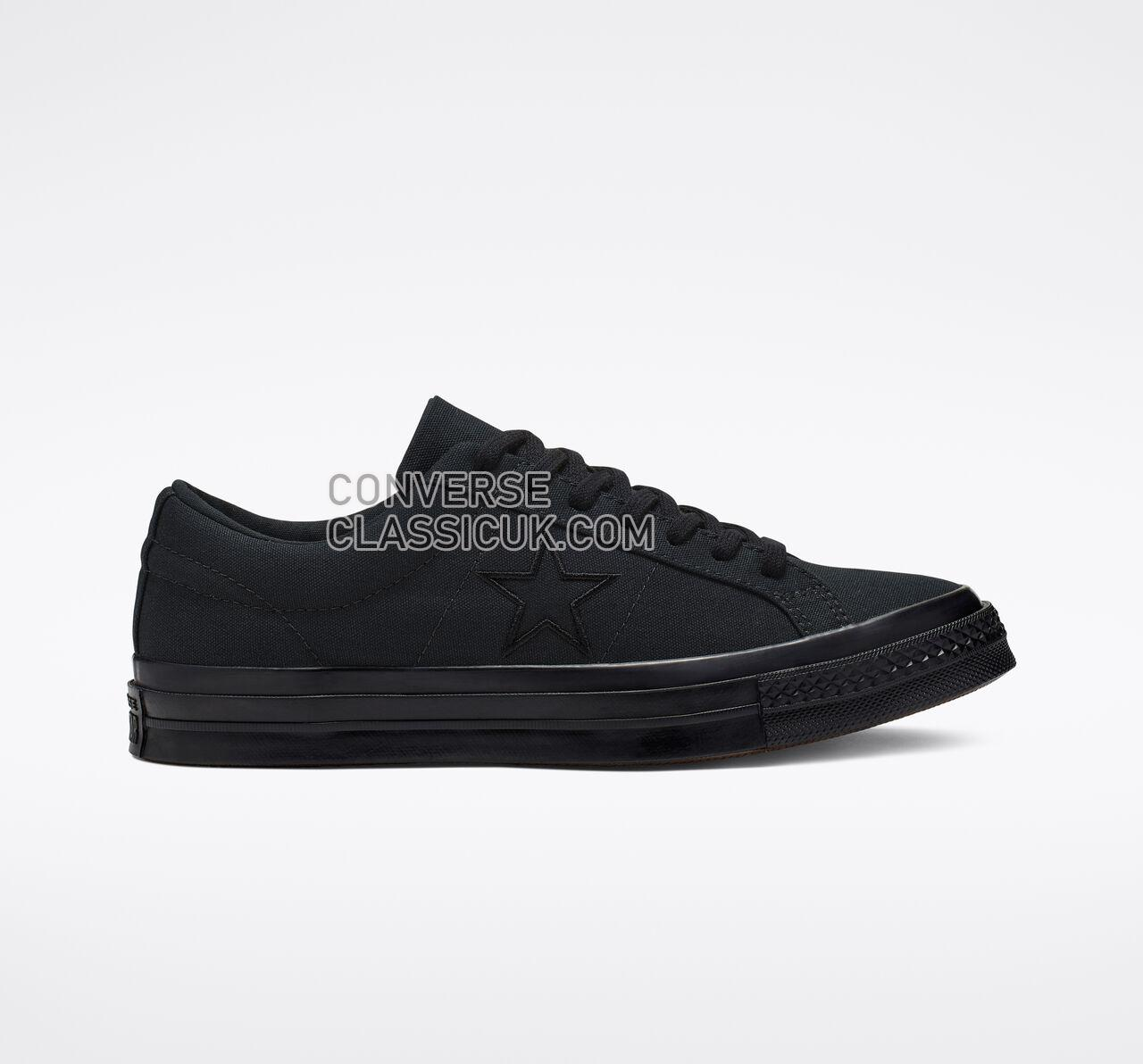 Converse One Star Seasonal Color Mens Womens Unisex 163380C Black/Black/Black Shoes