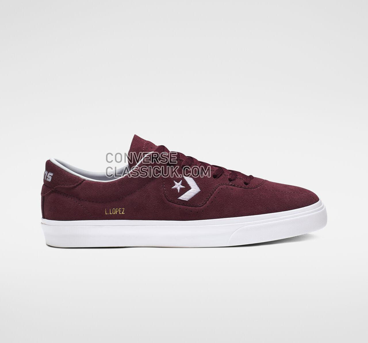 Converse Louie Lopez Pro Low Top Mens Womens Unisex 165272C Dark Burgundy/White/Gum Shoes