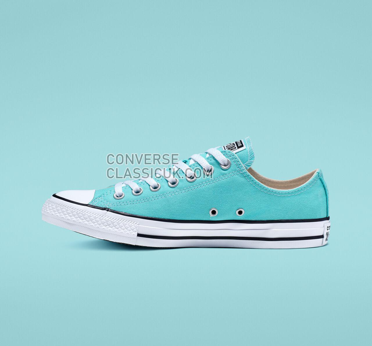 Converse Chuck Taylor All Star Seasonal Color Low Top Mens Womens Unisex 165496F Bleached Aqua/White/Black Shoes