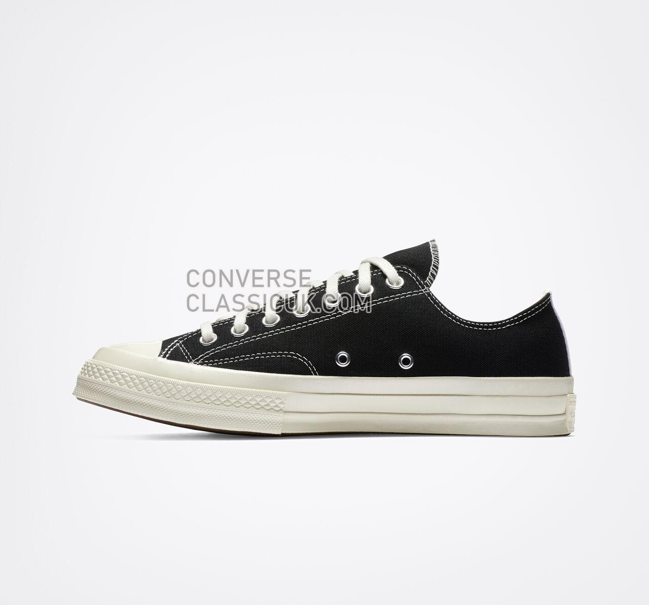 Converse x Comme des Garccedilons PLAY Chuck 70 Mens Womens Unisex 150206C Black/White/High Risk Red Shoes