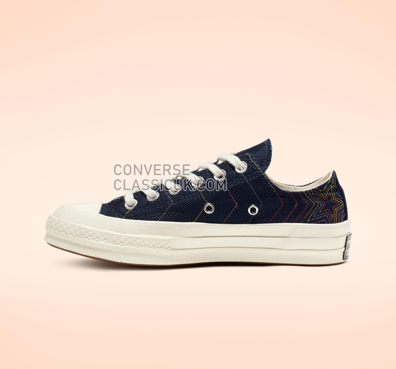 Converse Chuck 70 Exploding Star Low Top Mens Womens Unisex 164967C Obsidian/ Ozone Blue/ Egret Shoes