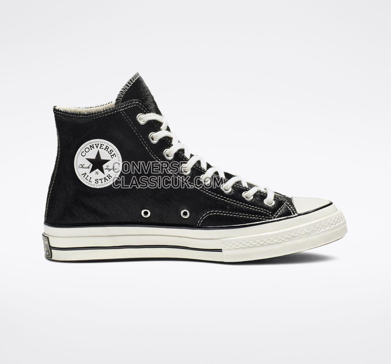 Converse Chuck 70 Pony Hair High Top Mens Womens Unisex 164588C Black/Egret/Natrual Shoes
