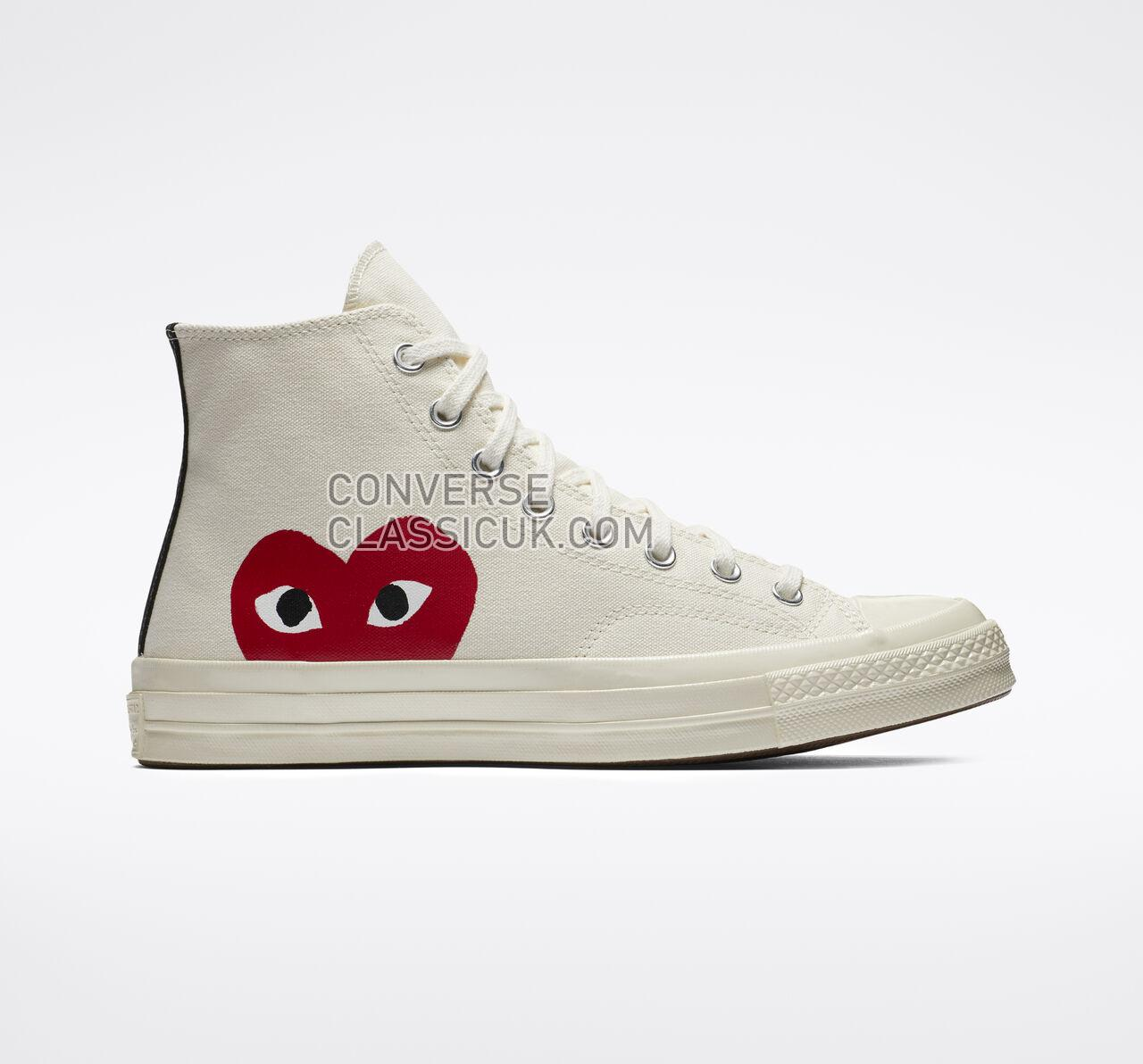 Converse x Comme des Garccedilons PLAY Chuck 70 Mens Womens Unisex 150205C Milk/White/High Risk Red Shoes