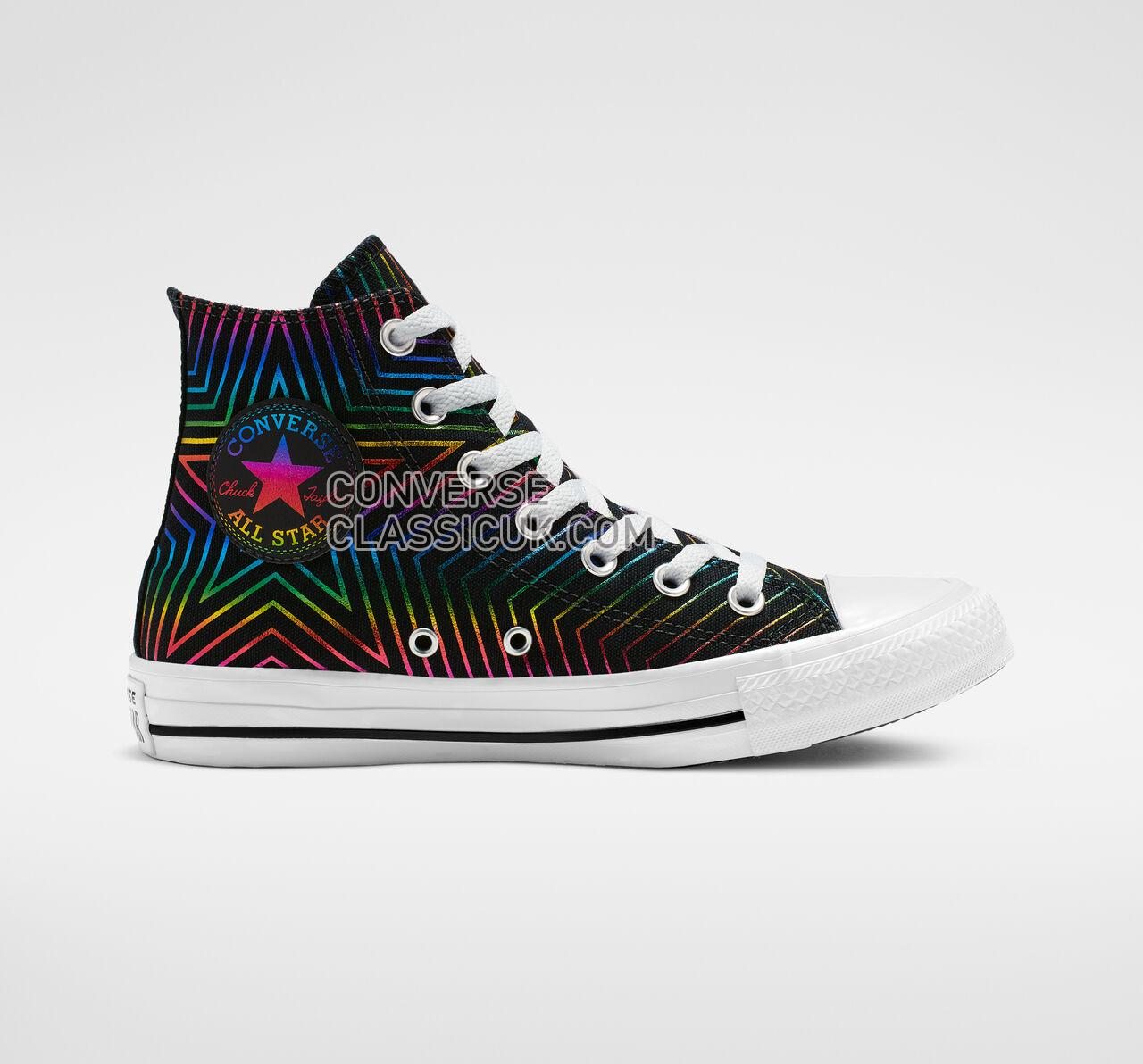 Converse Chuck Taylor All Star Exploding Star High Top Womens 565395F Black/White/Black Shoes