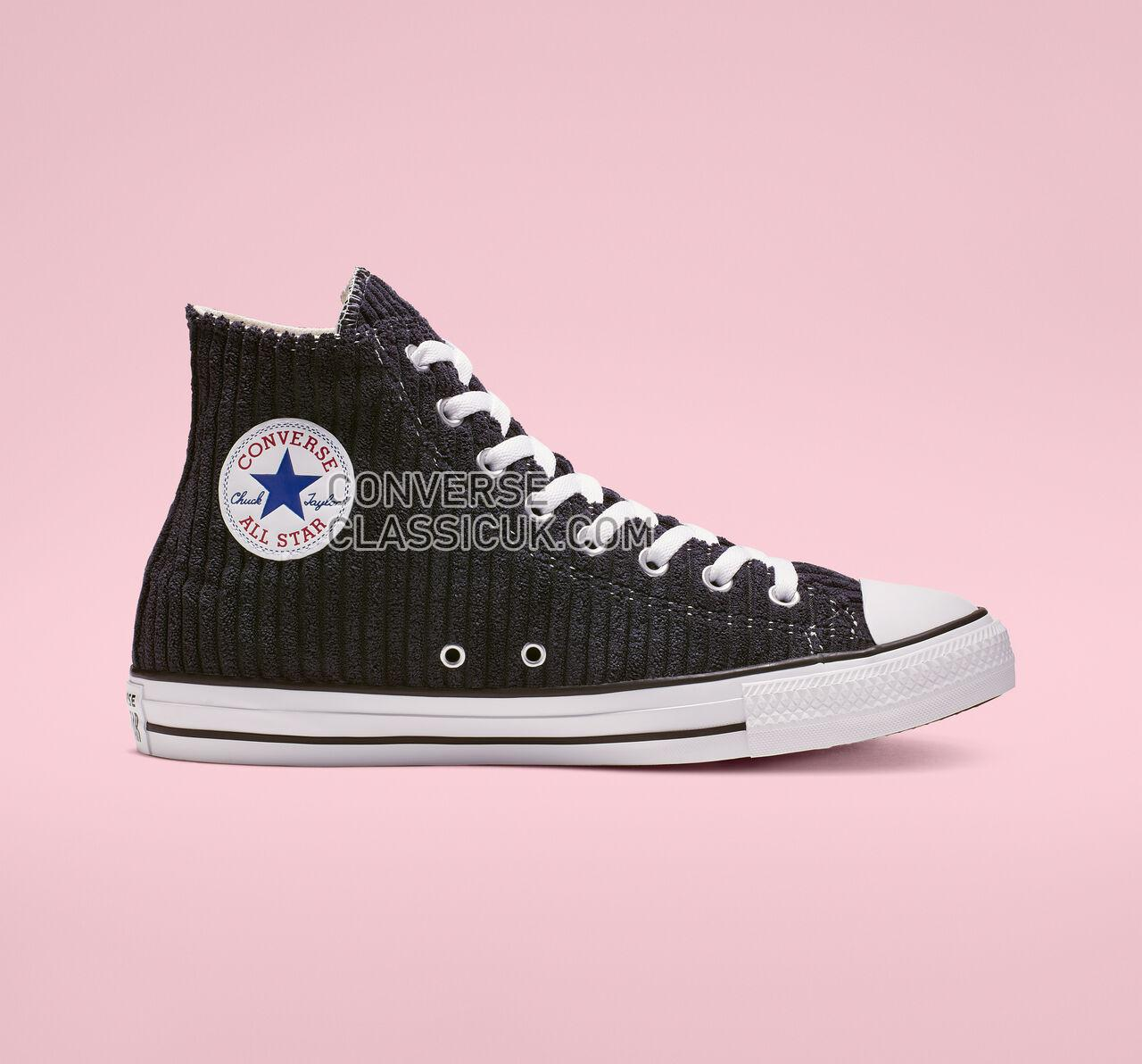 Converse Chuck Taylor All Star Wide Wale Cord High Top Mens Womens Unisex 165146F Dark Obsidian/White/Black Shoes