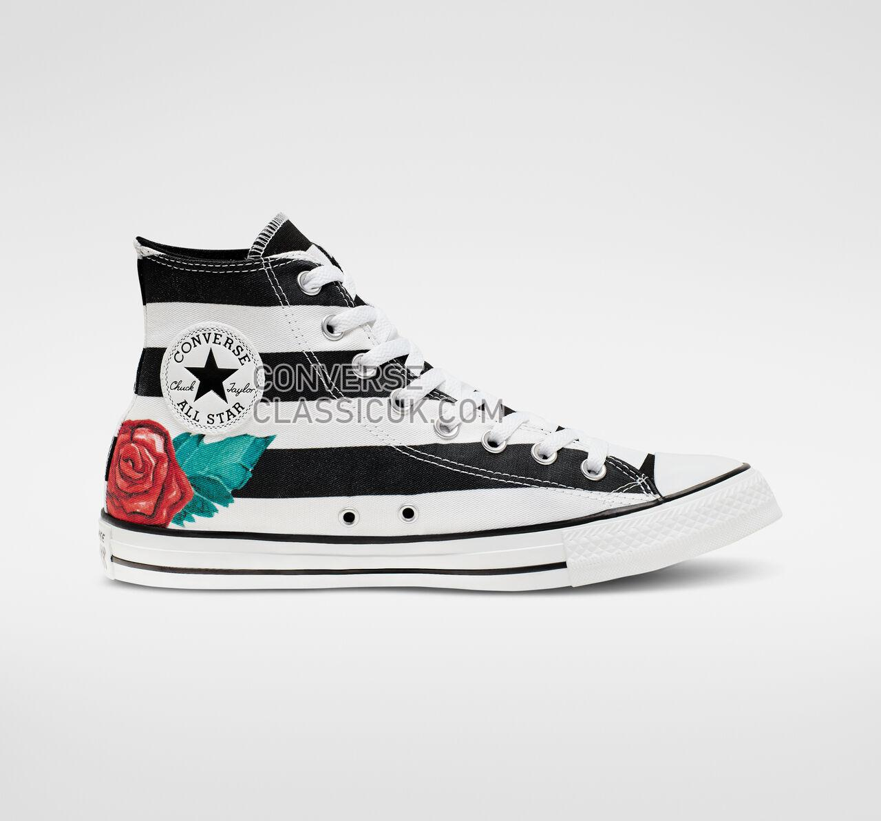 Converse Chuck Taylor All Star Skull Print High Top Mens Womens Unisex 165821C White/Black/Red Shoes