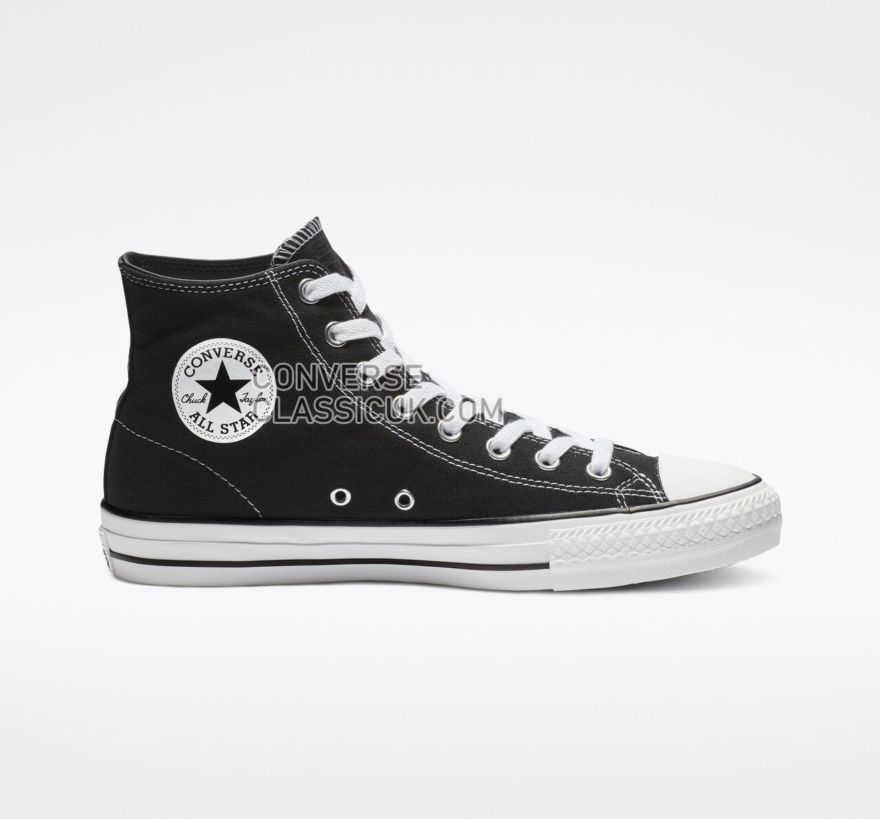 Converse CTAS Pro High Top Mens Womens Unisex 159575C Black/Black/White Shoes