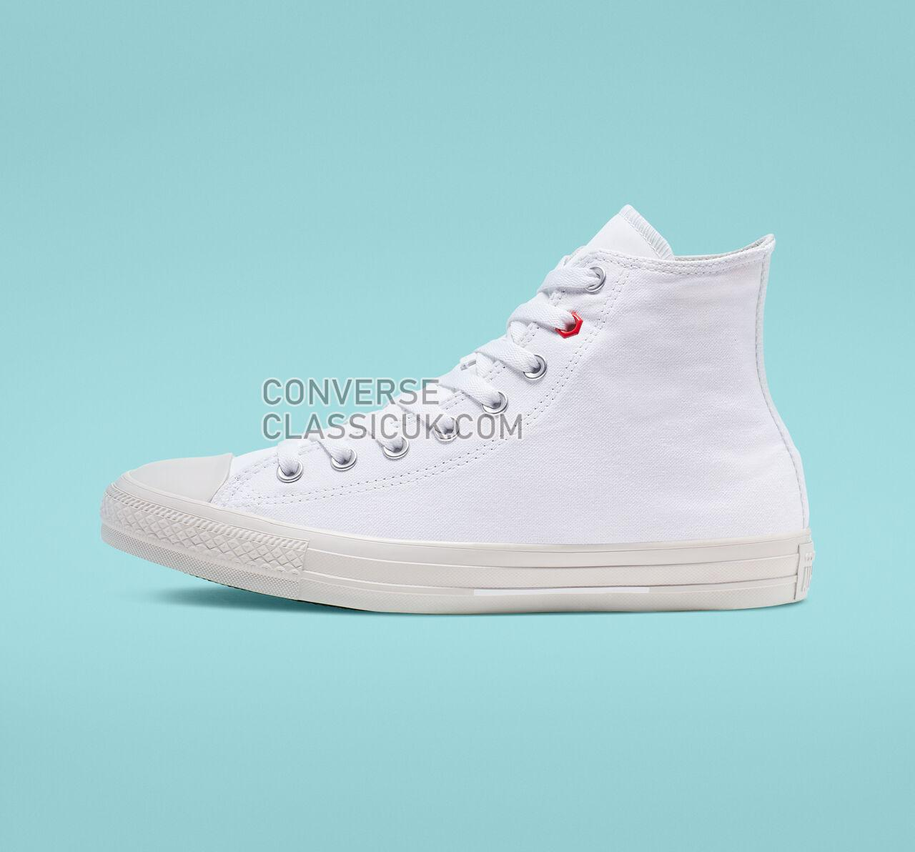 Converse Chuck Taylor All Star Flight School High Top Mens Womens Unisex 165051F White/Habanero Red/Pale Putty Shoes