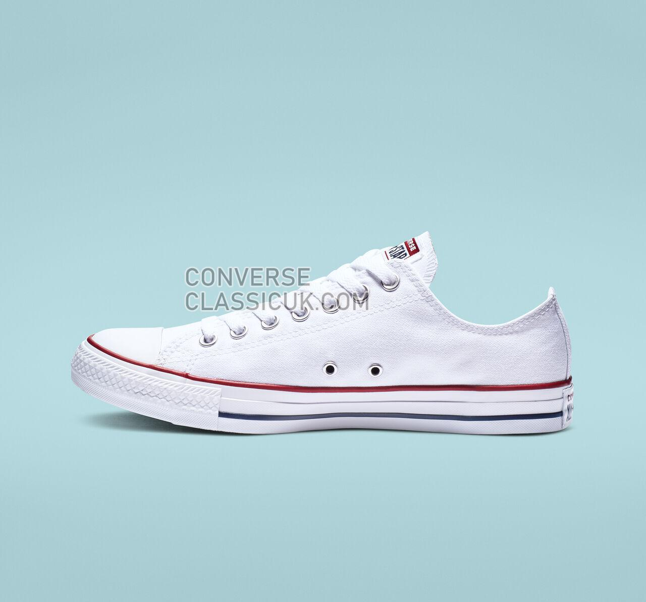 Converse Chuck Taylor All Star Low Top Mens Womens Unisex M7652 Optical White Shoes