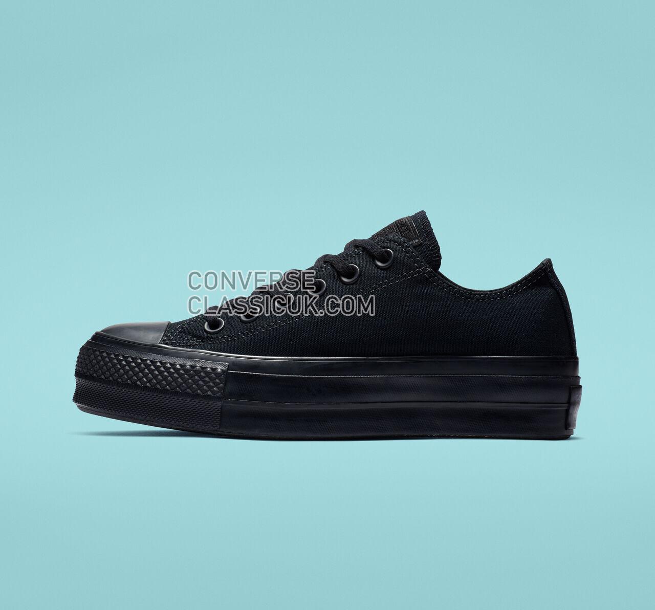 Converse Chuck Taylor All Star Platform Low Top Womens 562926C Black/Black/Black Shoes