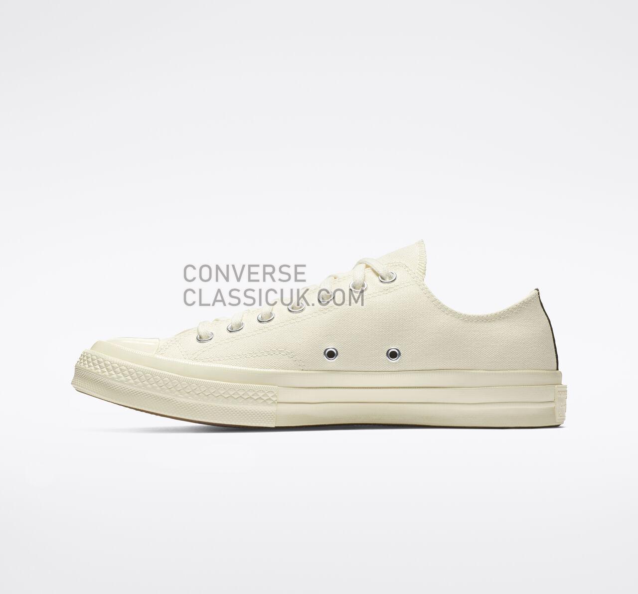 Converse x Comme des Garccedilons PLAY Chuck 70 Mens Womens Unisex 150207C Milk/White/High Risk Red Shoes